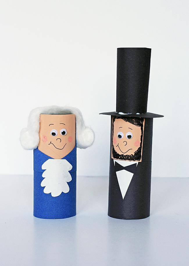 Cardboard Tube Presidents