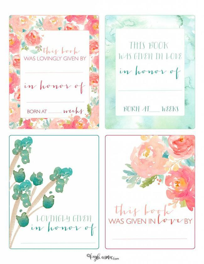 Free printable book name tags. The template can also be used for.