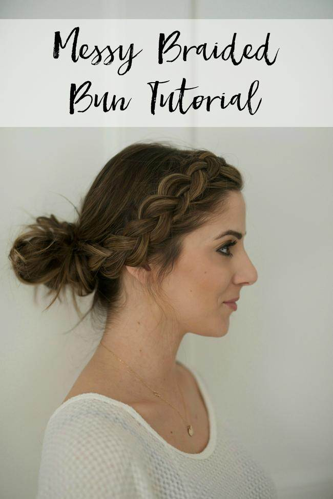 Messy Braided Bun Tutorial