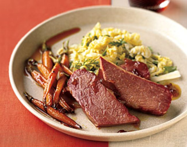 Corned Beef and Carrots with Marmalade {recipe}