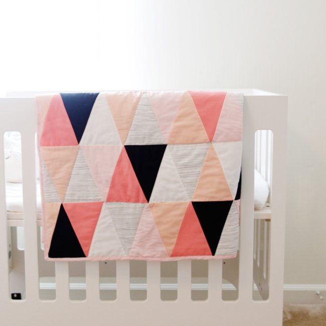 Modern Ombre Triangle Quilt