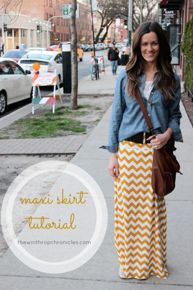 DIY Maxi Skirt {Women's Clothing}