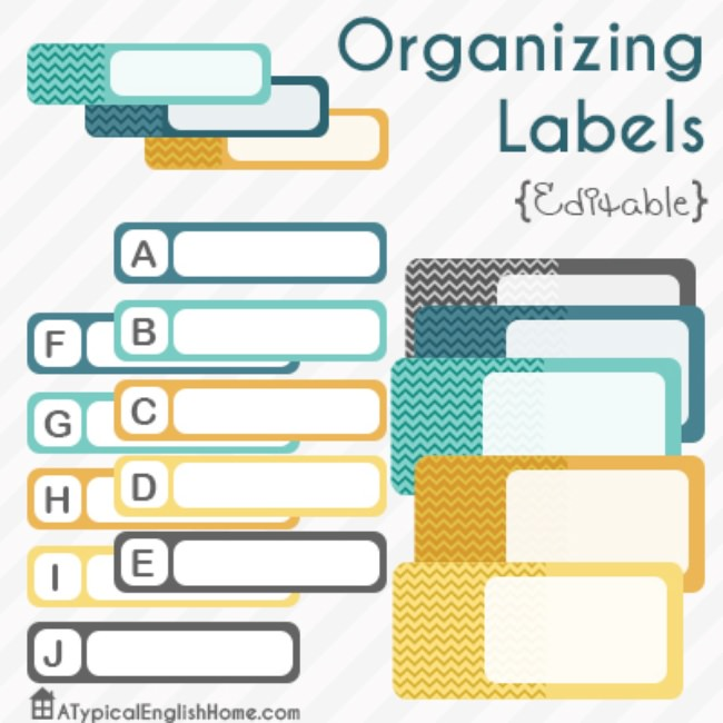 picture about Free Organization Printables known as 21 Absolutely free Labels towards Choose Yourself Prepared printables Idea Junkie
