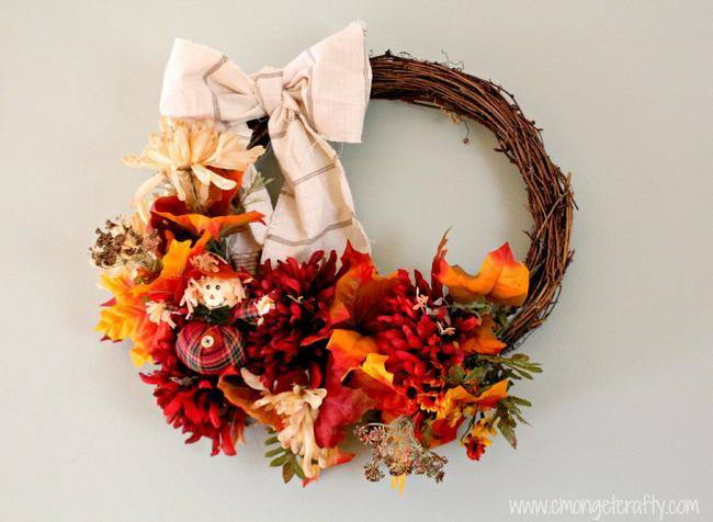 30 Minute Fall Wreath