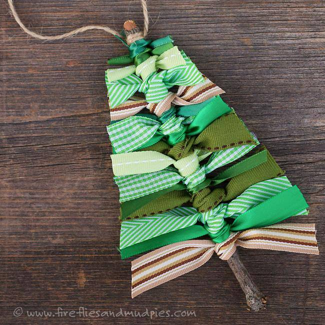 Scrap Ribbon Tree Ornament