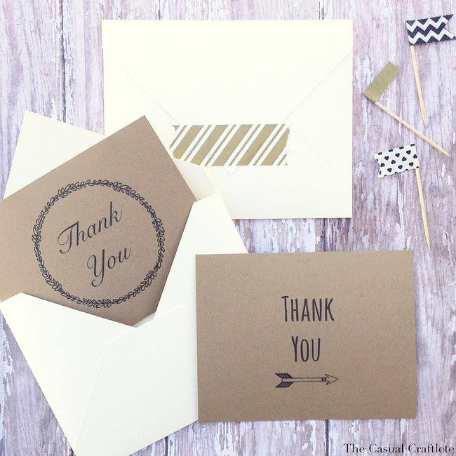 Printable Thank You Cards {4 designs}