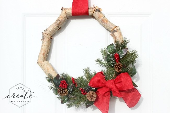 Christmas Birchwood Wreath