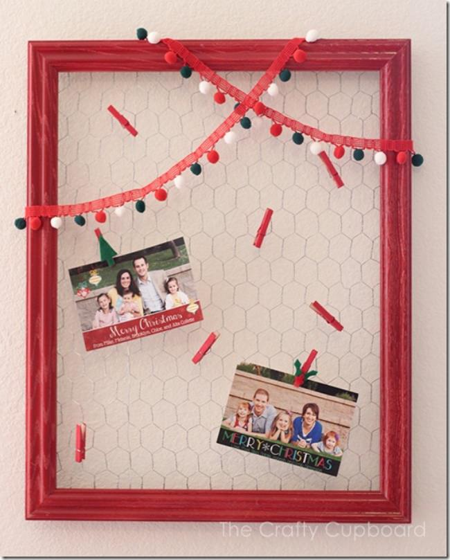 Framed Chicken Wire Card Holder