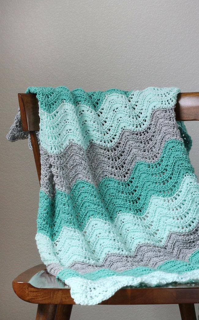 Feather & Fan Baby Blanket