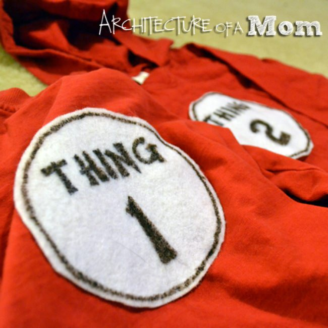 Thing 1 & Thing 1 Costumes {shirts}