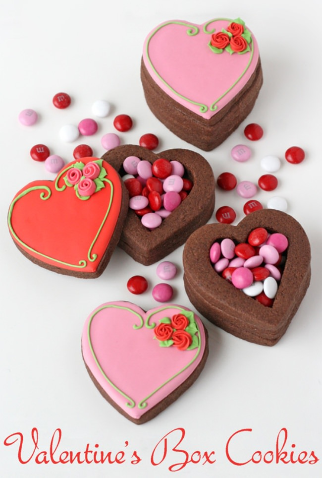Valentine's Heart Cookie Boxes