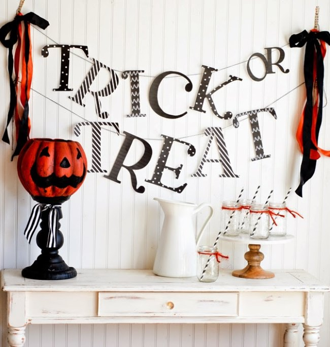 trick or treat free printable banner