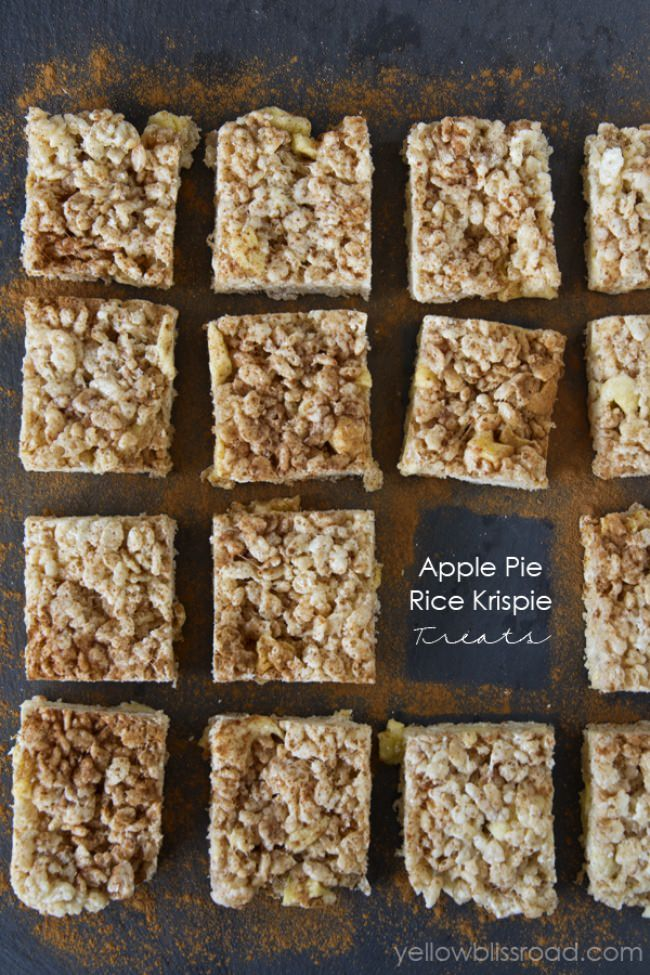 Apple Pie Rice Krispie Treats