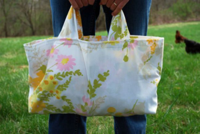 Pillowcase Grocery Tote Tutorial