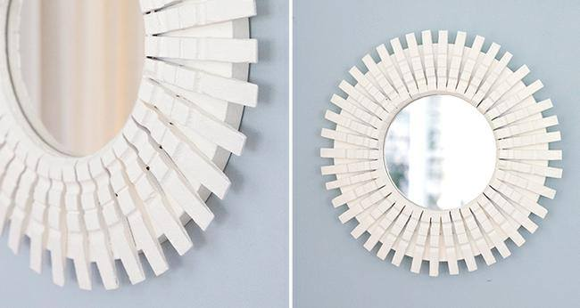 DIY Clothespin Mirror Tutorial
