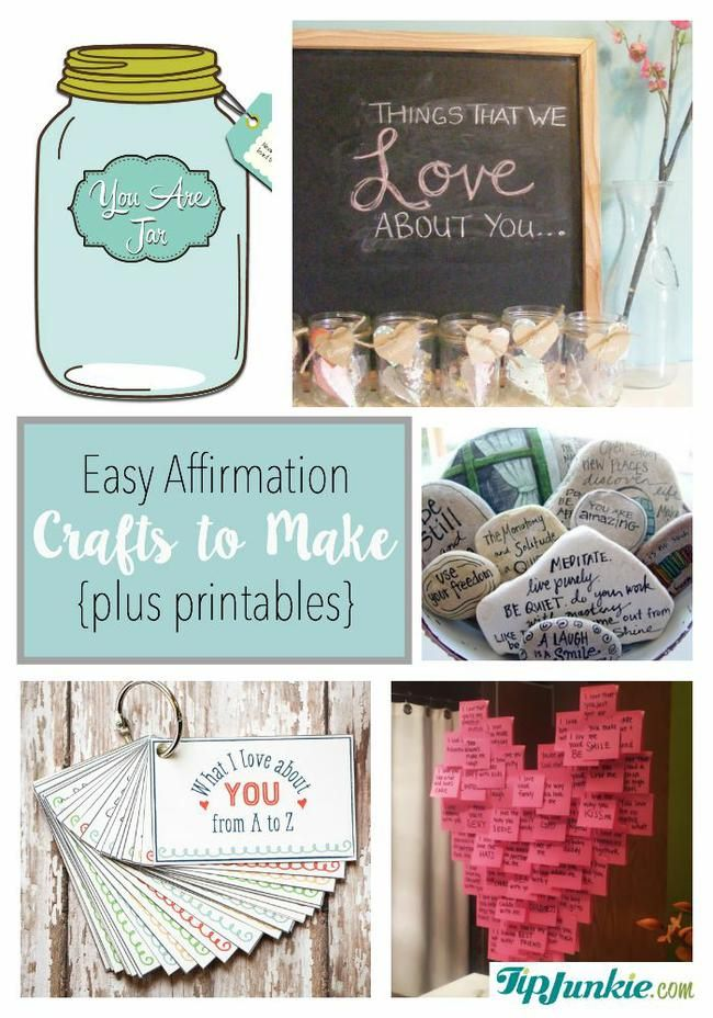 Easy Affirmation  Crafts to Make  {plus printables}-jpg