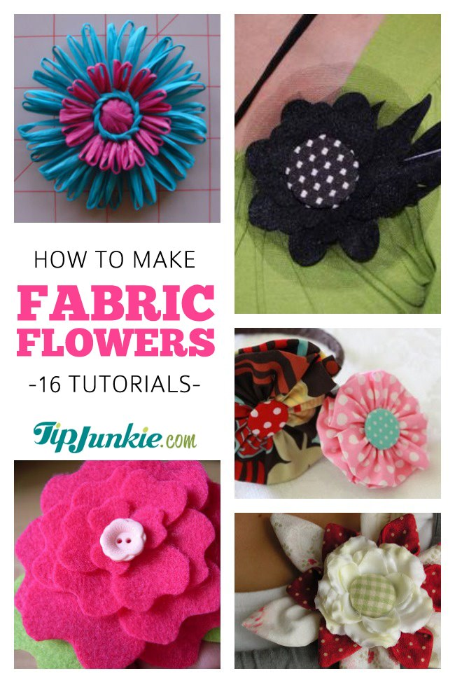 How to Make Fabric Flowers {16 Patterns and Tutorials}