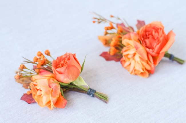 autumn inspired boutonnieres-JPG