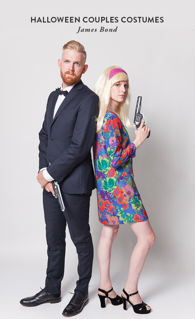 James Bond ~ How cool is this 70u0027s version of James Bond?! If you already have a mod dress or a vintage 60u0027s or 70u0027s dress then you are golden.  sc 1 st  Tip Junkie & 14 Creative Couples Costumes | Tip Junkie