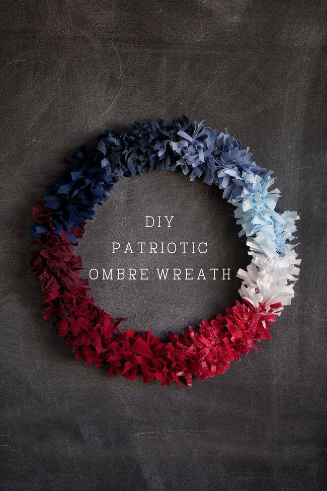 DIY Patriotic Ombre Wreath