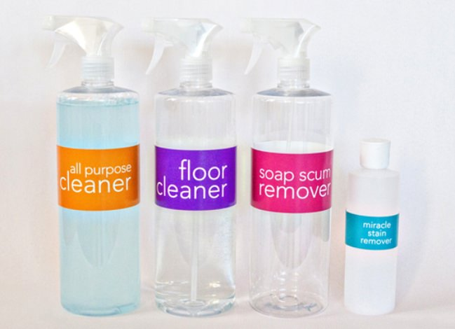 Homemade Cleaner Labels