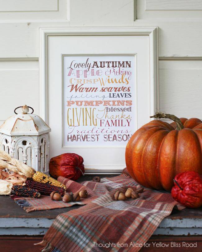 Autumn Subway Art Printable