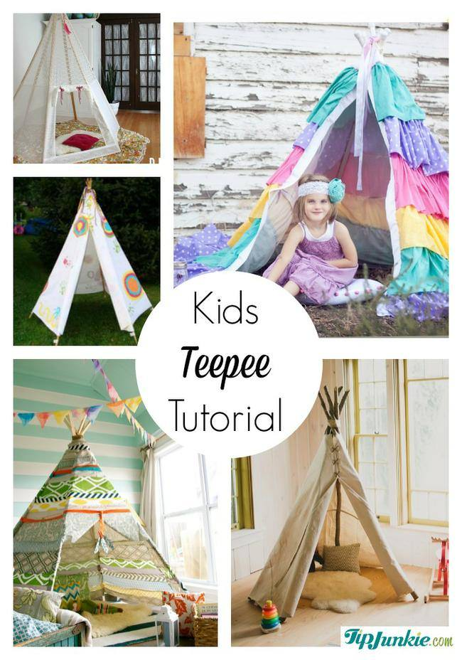 Kids Teepee Tutorial-jpg  sc 1 st  Tip Junkie & 11 Easy DIY Play Tents for Kids | Tip Junkie