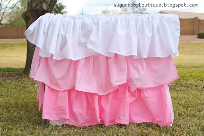 Dyed Ruffle Ombre Tablecloth
