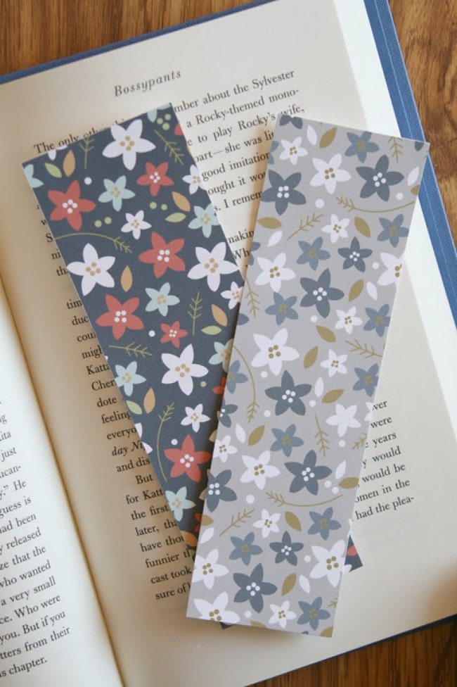 Printable Floral Bookmarks