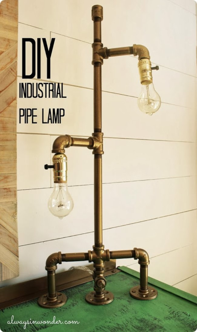 DIY Industrial Pipe Lamp