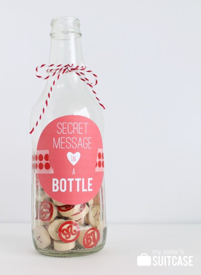Secret Message in a Bottle {free printable}