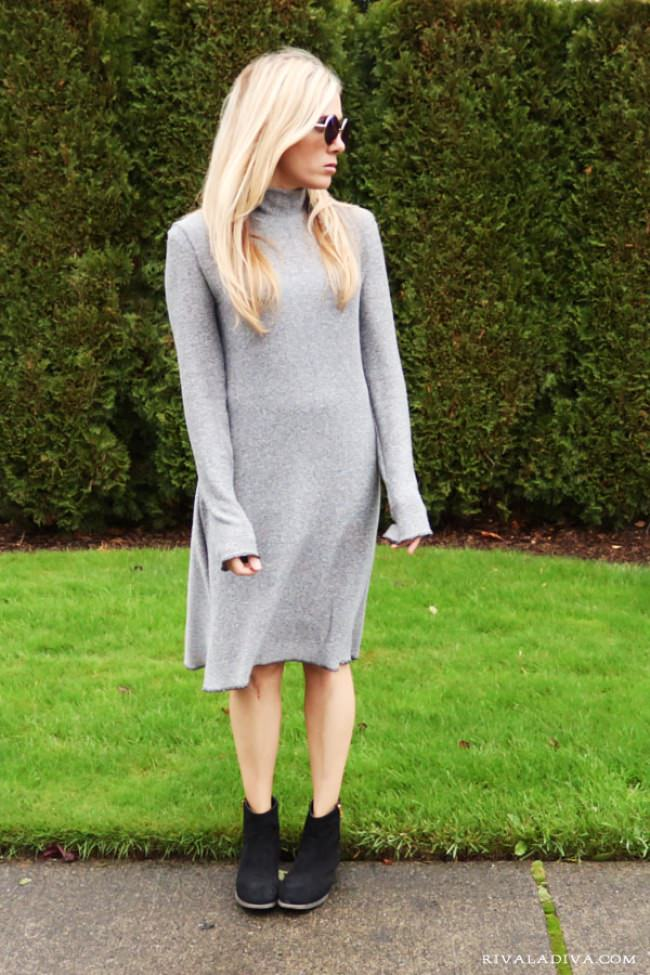 DIY Celine Inspired Knit Dress