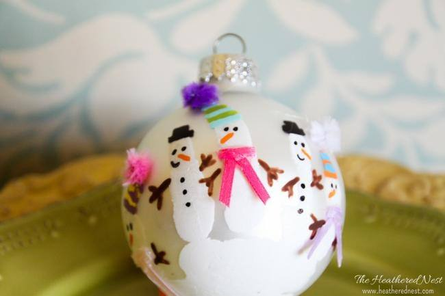 DIY Kids Handprint Ornaments
