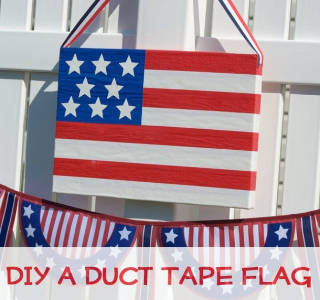 DIY Duct Tape Flag