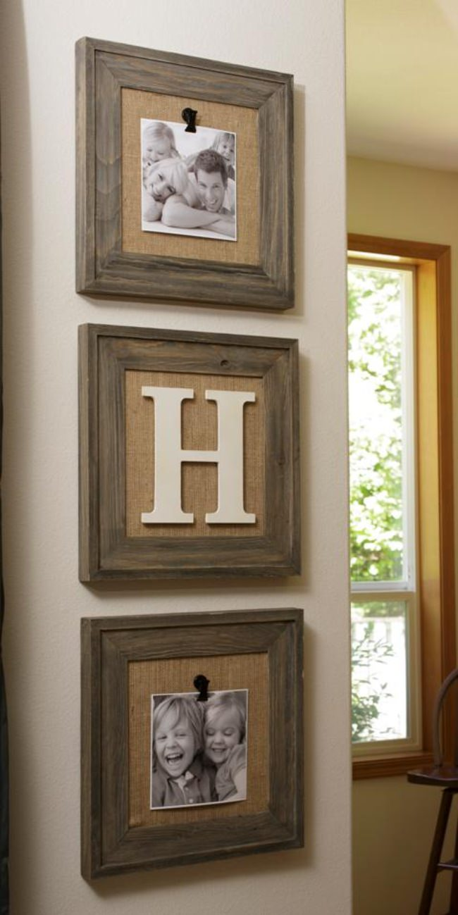 Easy to Change Out Photos Burlap Frames