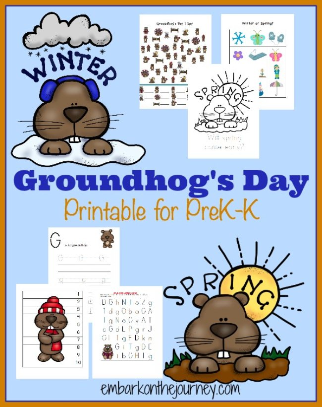 Free Groundhog Day Printable Pack {pre k-k}