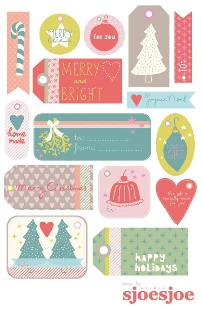 Free Printable Christmas Tags {xmas printables}