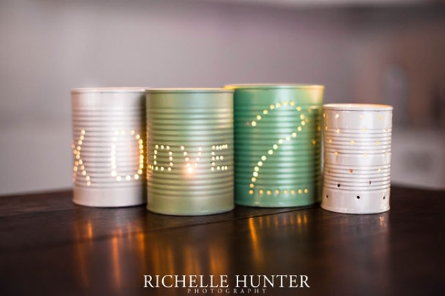Tin Can Luminaries {diy}