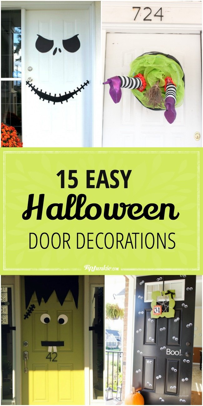 15 Easy Halloween Door Decorations-jpg & 15 Easy Halloween Door Decorations | Tip Junkie