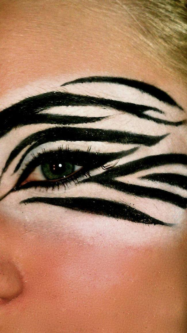 zebra stripes makeup