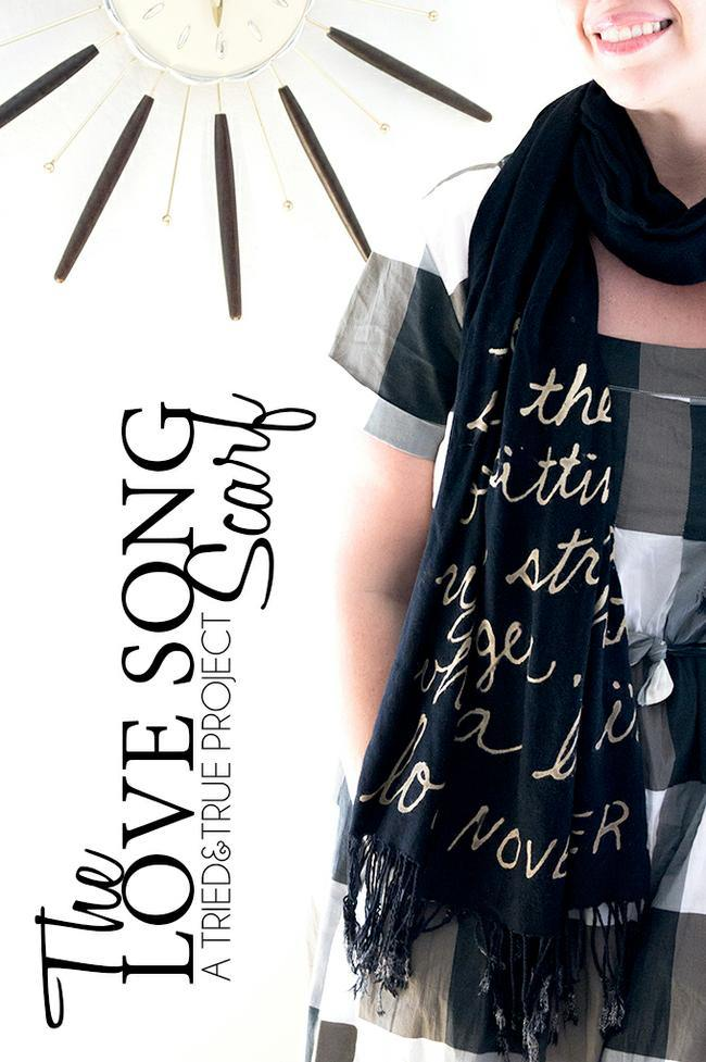 Love Song Bleached Scarf