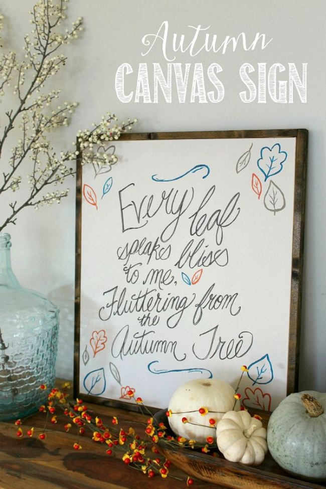 Rustic Canvas Fall Sign