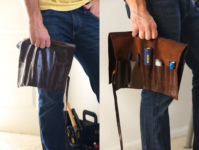 DIY Leather Tool Roll