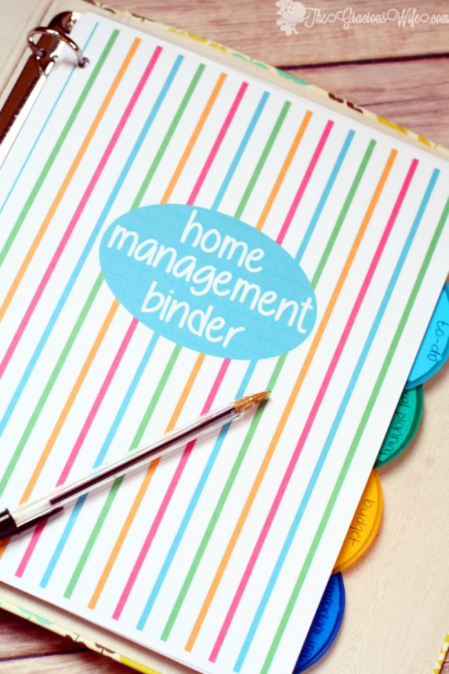 Home Management Binder {free printables}