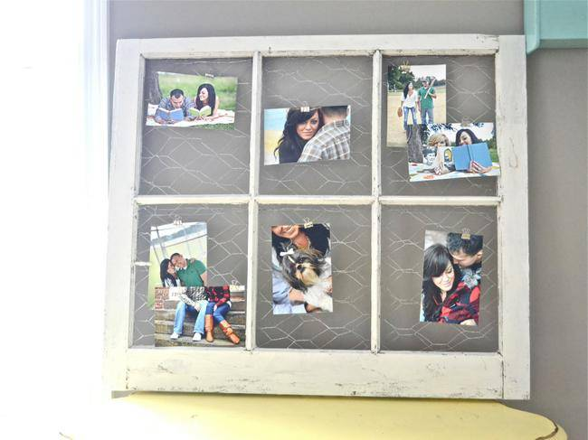 Chicken Wire Window Picture Frame