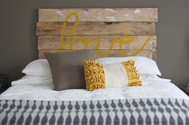 "DIY ""Love"" Headboard"