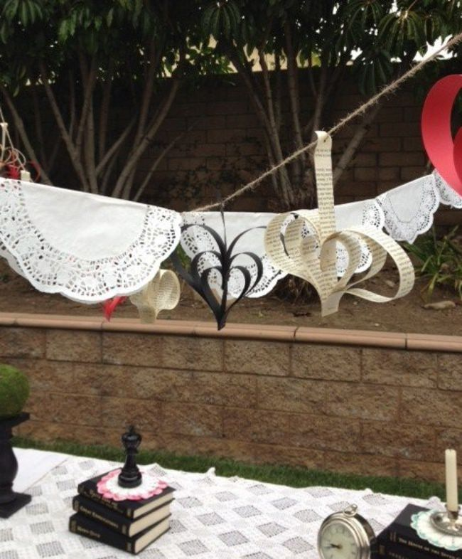 Paper Doily Banner