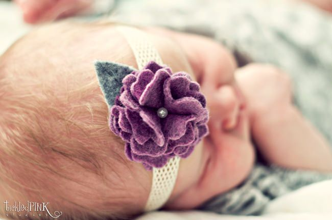 Box Fold Felt Flower Headband {How-to}