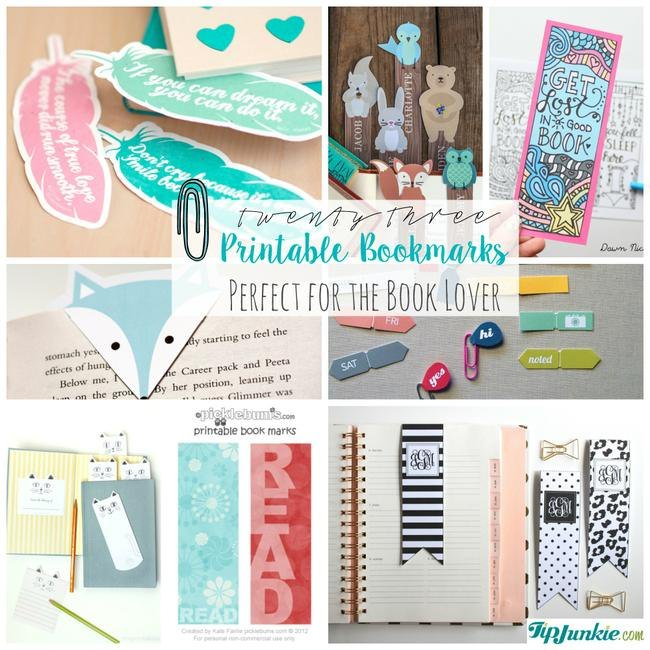 Printable Bookmarks Perfect for the Book Lover-jpg