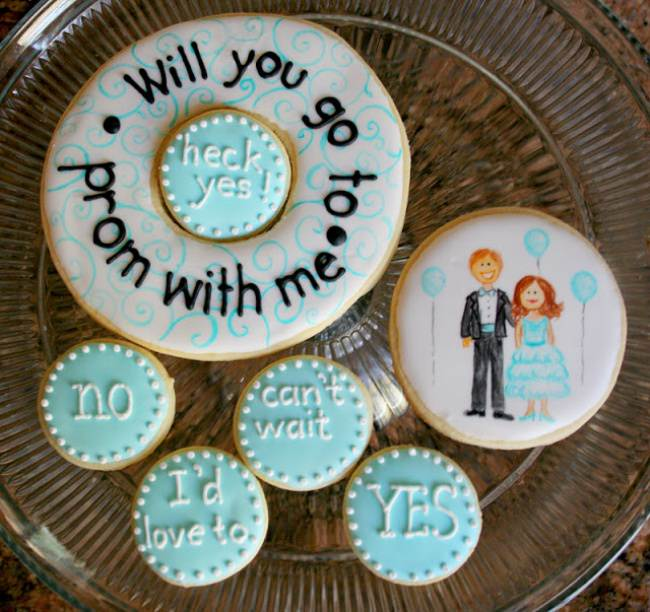 How To Ask to Prom Cookies